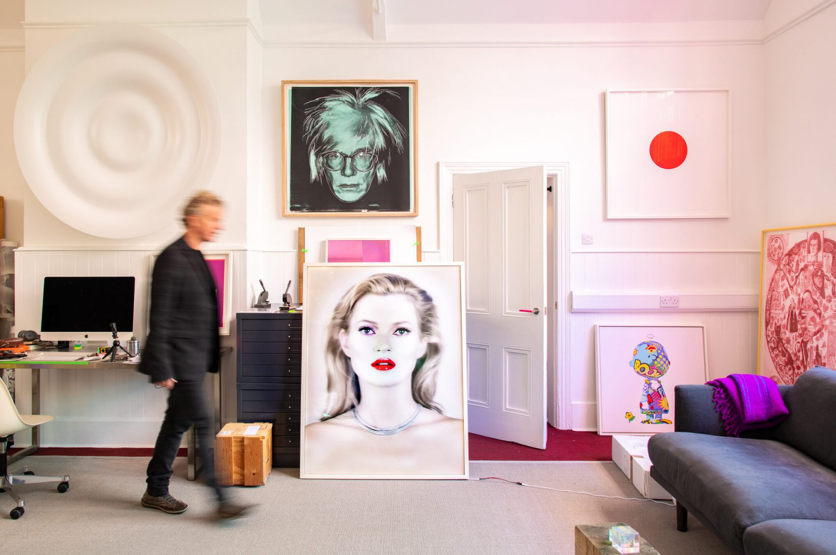 Kate Moss by Chris Levine and Damien Hirst framed by Pauli Frames